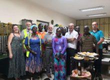 Jean Jacques avec une partie de l'équipe SIECMI Abidjan